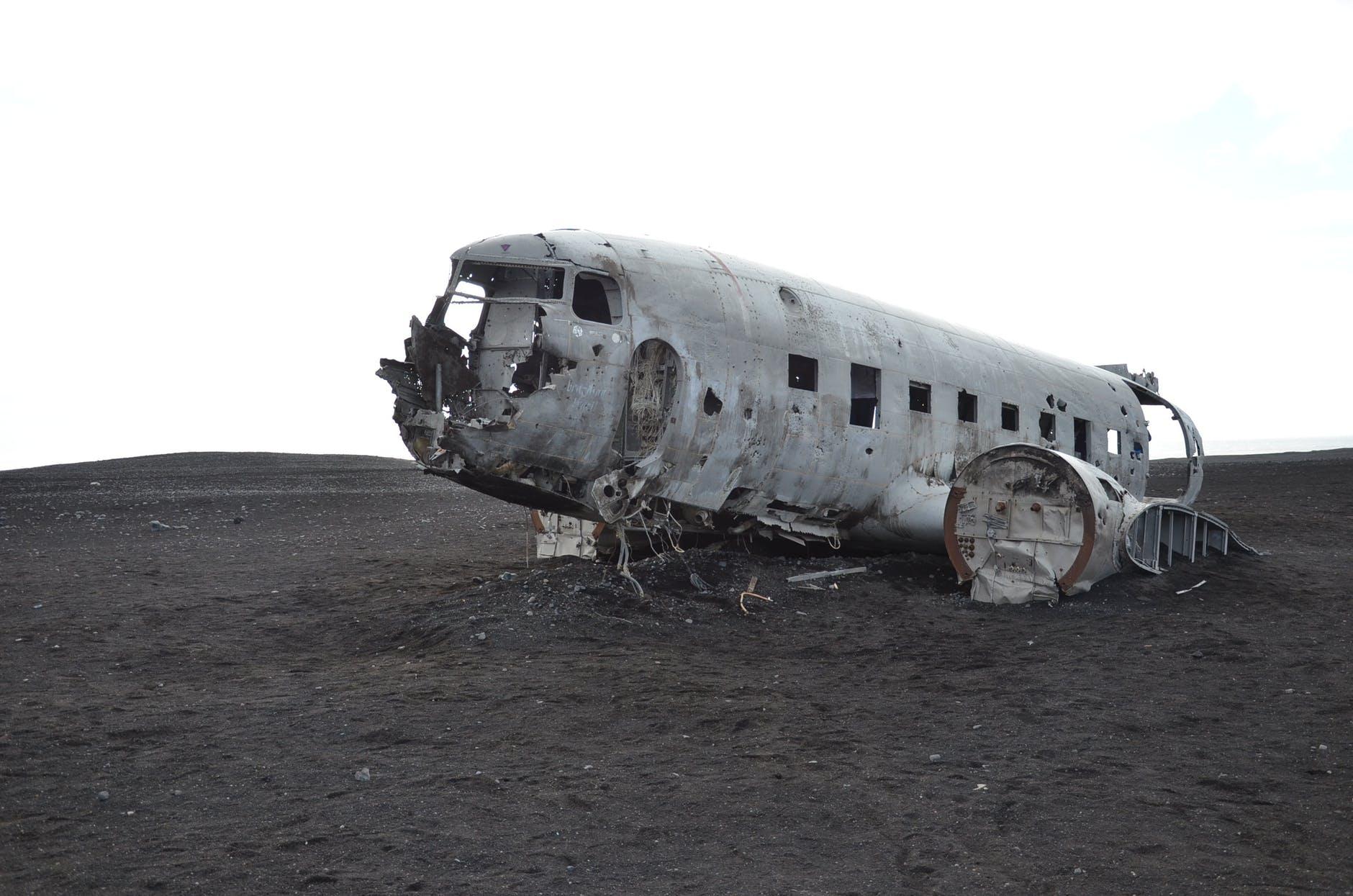 abandoned accident aeroplane aircraft