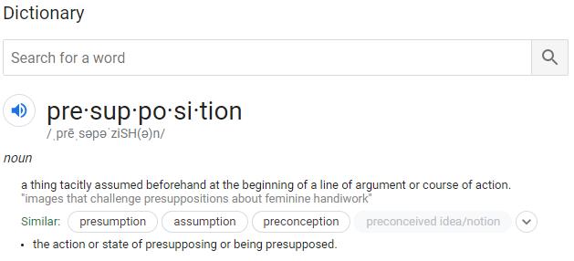 Presuppostion